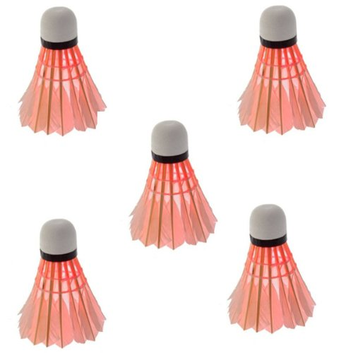 Super sell Superior Practical Red 5*Dark Night LED Badminton Shuttlecock Birdies Lighting
