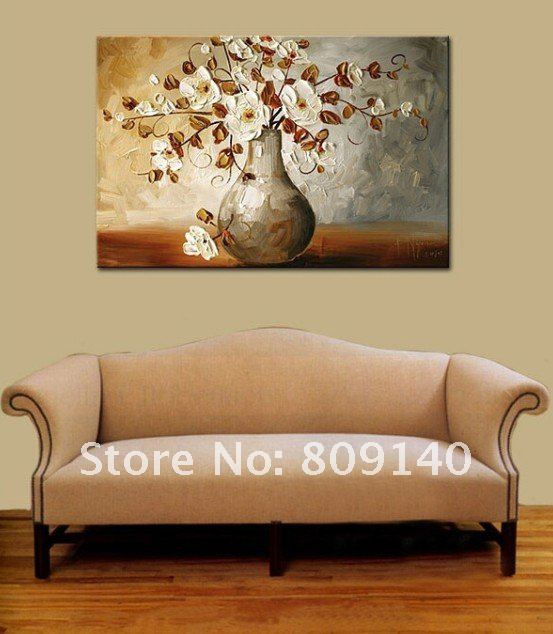 wall paintings for office. Brilliant Paintings Flower Oil Painting Canvas White Grey Home Decoration Abstract High Quality  Handmade Office Wall Art Decor On Wall Paintings For Office C