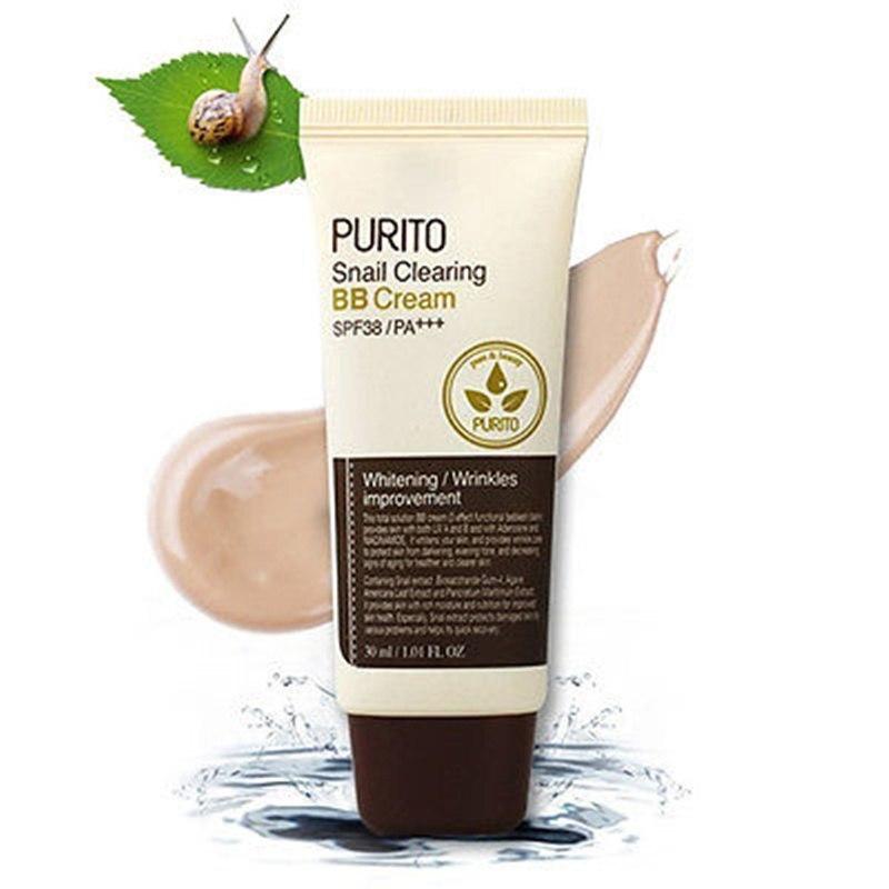 PURITO Snail Clearing BB Cream #21 #23 #27 Face Makeup CC Cream Whitening Concealer Foundation Moisturize Korean Cosmetics