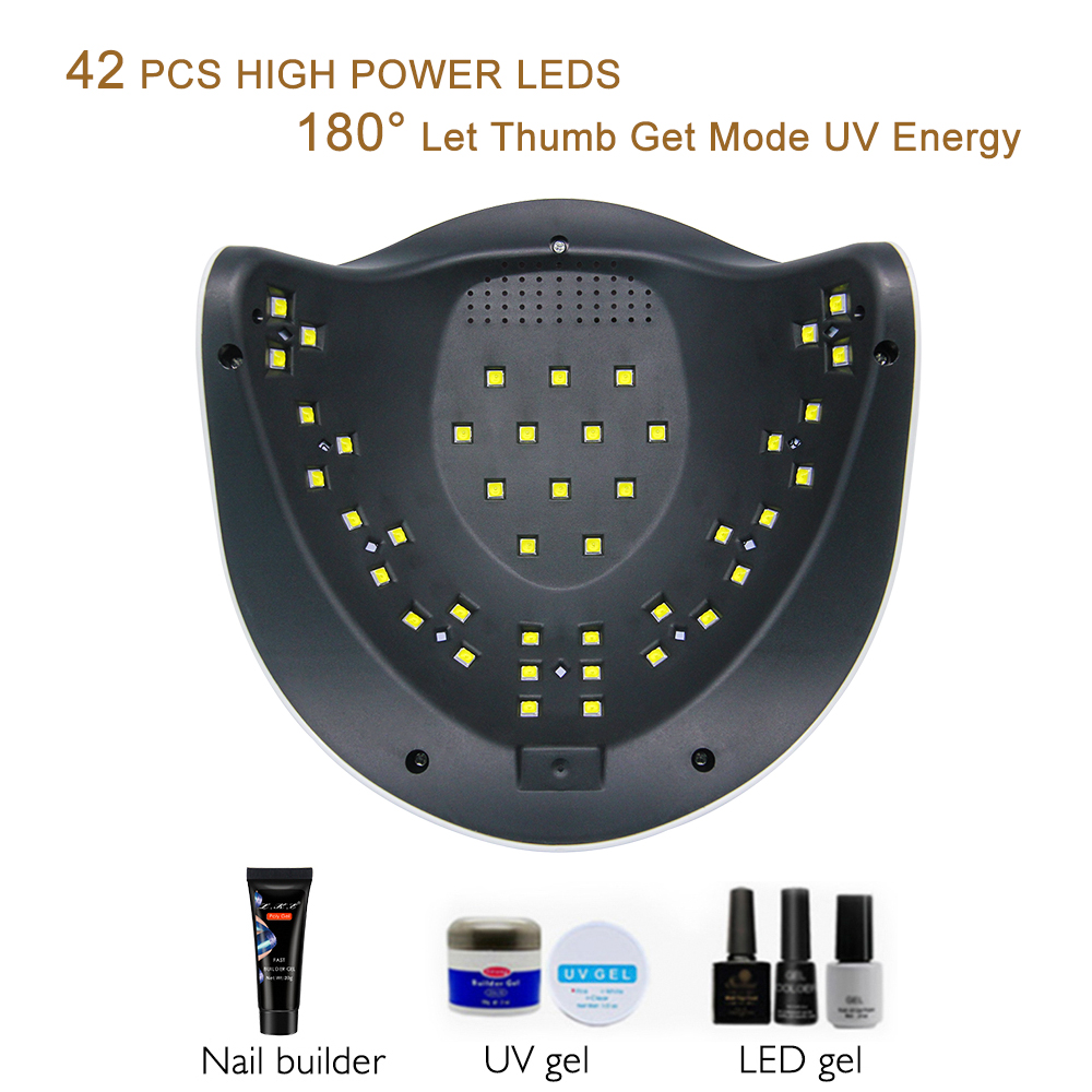 Image 4 - LKE New Nail Dryer SUNX plus UV lamp  Dual Power Nail Dryer Portable Nail Manicure 42pcs LEDs For All Gel Polish Nail Dryers-in Nail Dryers from Beauty & Health