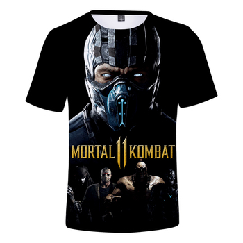 LUCKYFRIDAY 3D Mortal Kombat 11 Print Casual Harajuku t-shirts Women/Men summer Clothes 2019 Hot Sale Short Sleeve Plus Size 1