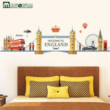 Factory Direct Bedroom Tv Backdrop Decorative Wall Stickers Wholesale European Romantic Scenery London(China)