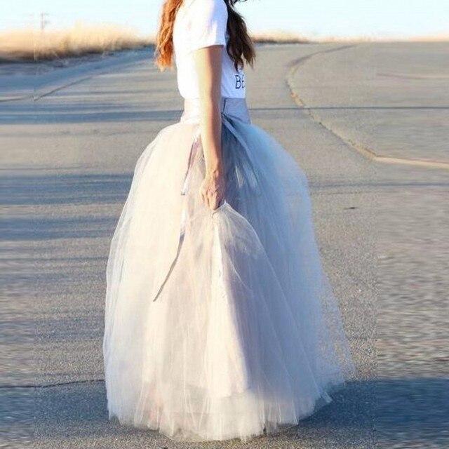 2d661f17b € 31.75 |Formal Falda larga cintura alta moda mujeres del Partido de tarde  Faldas cinta personalizada adulto Maxi falda piso de longitud en Faldas ...