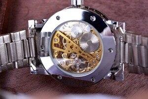 Image 5 - ساعة ذهبية شفافة ساعات رجالية ماركة فاخرة Relogio ساعة رجالية ساعة عادية ساعة رجالية Montre Homme ساعة ميكانيكية موديل سكيلتون