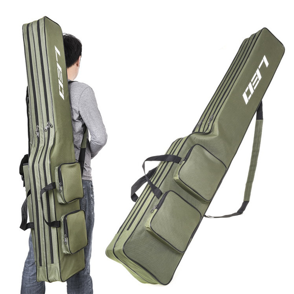 Two Layer 130cm Fishing Rod Bag Fishing Pole Gear Tackle Tool Case For Rods Carrier Storage Bag Fishing Rod Cover Shoulder Bag