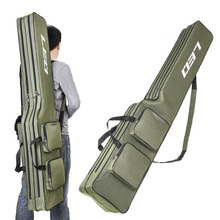 Two Layer 130cm Fishing Rod Bag Pole Gear Tackle Tool Case For Rods Carrier Storage Cover Shoulder