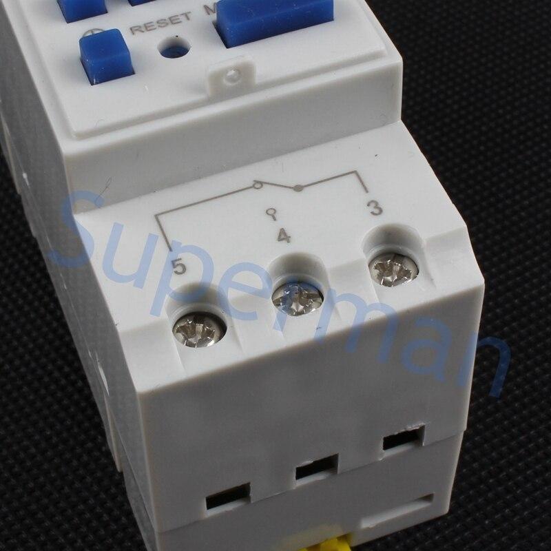 Tp8a16 interruptor temporizador digital para carril din electrónico programable semanal interruptor de tiempo del microordenador 220V 110V 30A 12V campana de relé