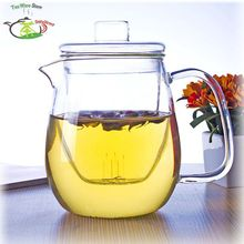 1x 550ml Heat-Resisting Clear Glass Teapot Water Coffee Tea Pot with Glass infuser with Lid