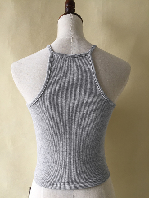 Halter Crop Top For Summer – Sexy Tank Tops –  T Shirt