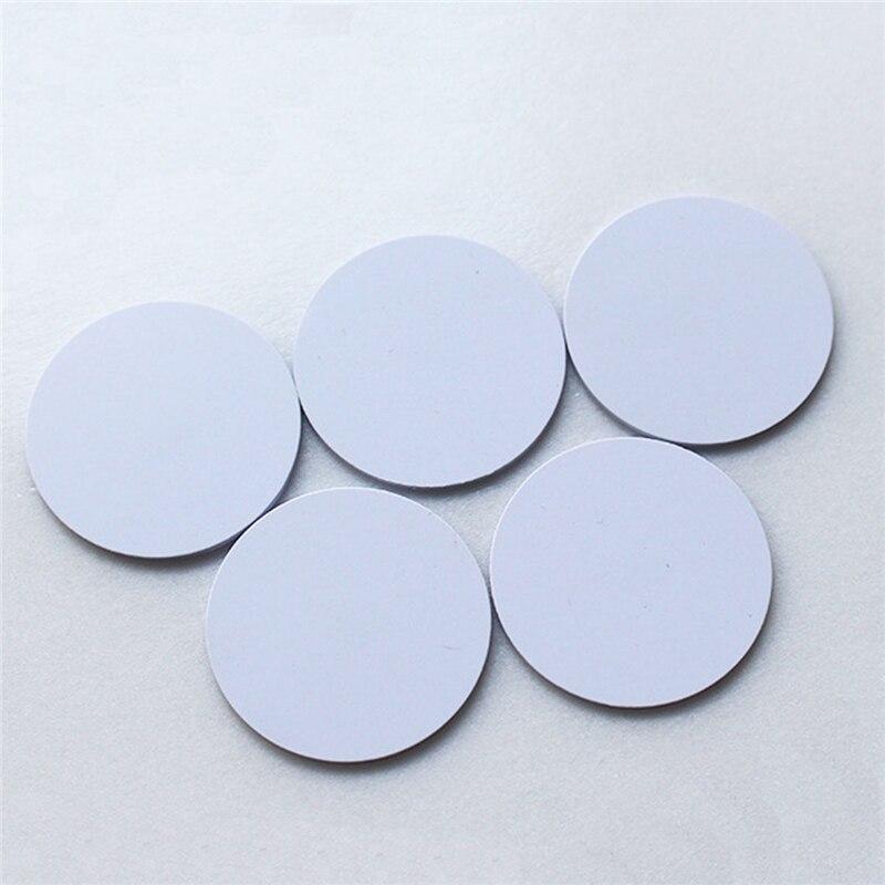 (10 Teile/los) Em4100 Rfid Tags 125 Khz Aufkleber Münzen 25mm Wasserdicht Klebstoff Smart Tags Lesen-nur Access Control Karten Heißen Verkauf