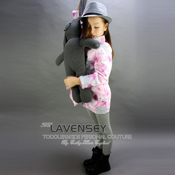 ФОТО Lavensey Floral Print Baby Girl Wind Breaker Autumn Fashion Long sleeve Children Coat Button Kids Jackets Child Outerwear