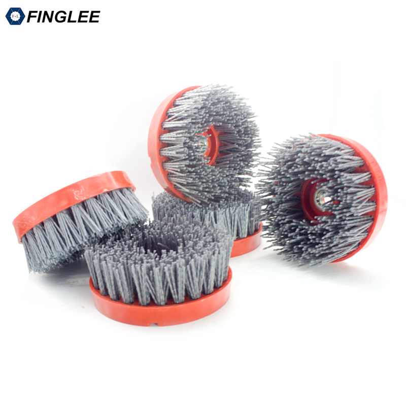 1Pcs/lot 4 inch 110mm Thread M14,Round Abrasive Antique Brush,Antique Abrasive Nylon Brush,Diamond Abrasive Brushes new abrasive note direct 15050208155