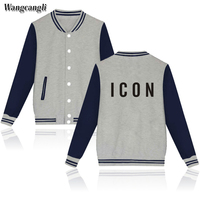 Wangcangli Autumn And Winter O Neck Long Sleeve And Single Breasted Print Letter ICON For Women
