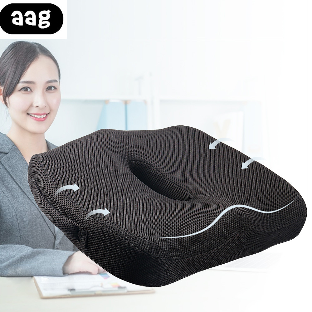 Comfort Orthopedic Chair Seat Cushion Memory Foam Non-Slip Home Office Car Seat Cushion For Tailbone Sciatica Back Pain Relief