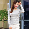 Hot Sell Women sweaters Cotton Long Sleeve Pullovers Striped Slash Neck Women's Sweaters Thin Pull Femme Hiver Casual Women tops