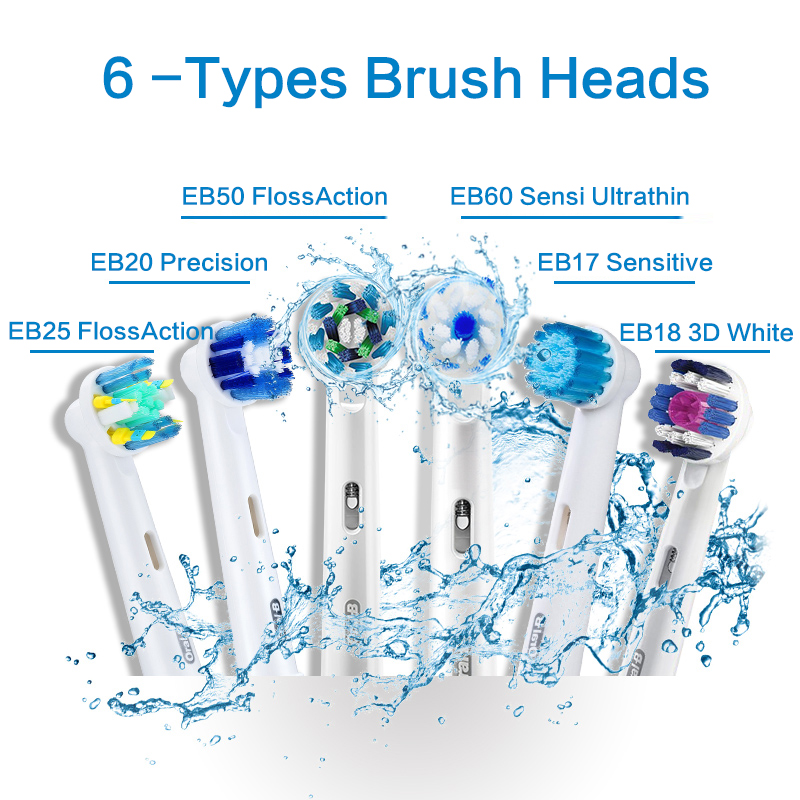 Image 2 - Oral B Vitality  Electric Toothbrush or Replaceable Brush Heads for Adult Rechargeable Electric Tooth Brushes Teeth Whitening-in Electric Toothbrushes from Home Appliances