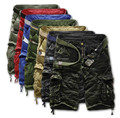 Envío gratis 2015 del verano ocasional flojo camuflaje cargo shorts cortos al aire libre grandes bolsillos 5 puntos cortos 8 colores