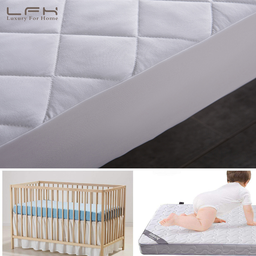 LFH Baby Crib Mattress Topper Cover For Toddlers Bed Protector 72X132CM Waterproof Mattress Pad Cover Waterproof Bed Sheet