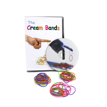 1 set The Cream Bands By Hondo (Gimmicks+DVD) Magic Tricks Props Magic Tools Comedy Close Up Stage Close-Up Magic Mentalism