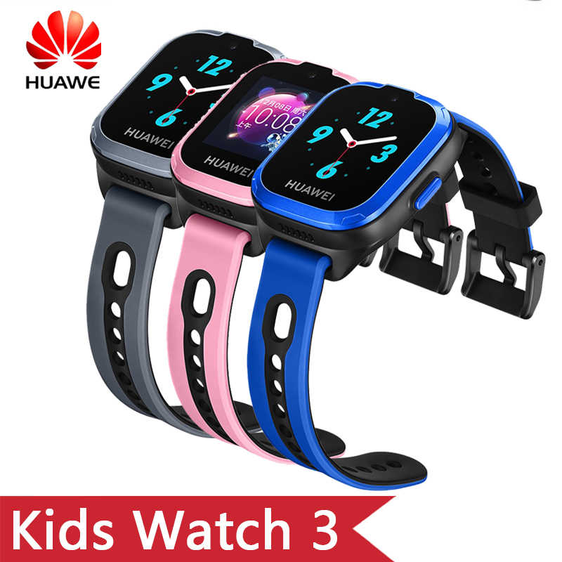 Original HuaWei Kids Smart band 3 With 2G Network WiFi Bluetooth GPS 0.3M Camera 1.3''TFT Touchscreen SOS Call Voice Assistant