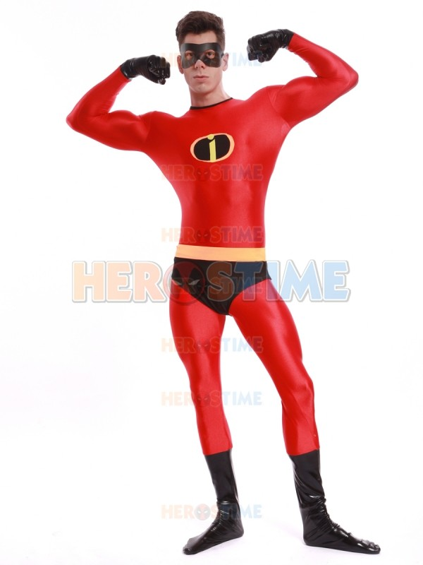 (SUP186) Spandex Mr Incredible Superhero Costume Halloween Cosplay The Incredibles Costumes the most classic zentai suit