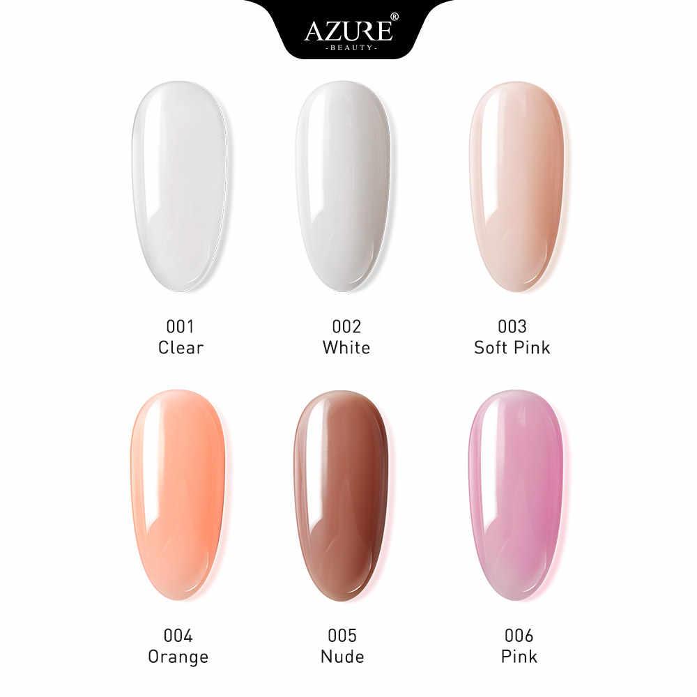 Azure Schoonheid 10ML Quick Extension Gel Clear Naakt Nail Tips UV Gebouw Gel Nail Acryl Vinger Nail Art Gel polish 6 stks/partij