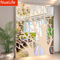 60x160cm Abstract 3D Large Tree Pattern Acrylic Mirror Sticker Sofa Living Room Bedroom TV Background Decorative Wall Stickers