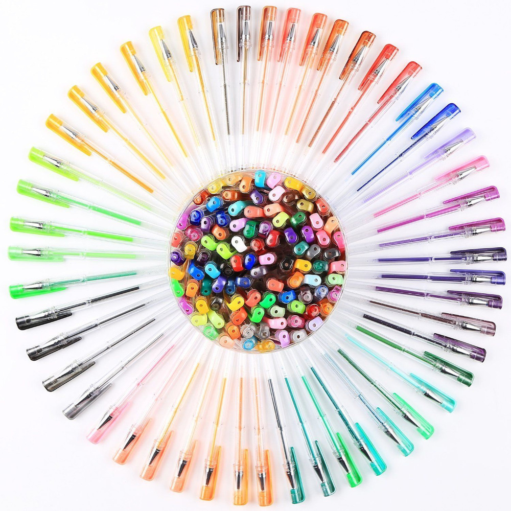Drawingcolor Aliexpresscom Buy 100 Color Gel Pens For Art Drawing Glitter