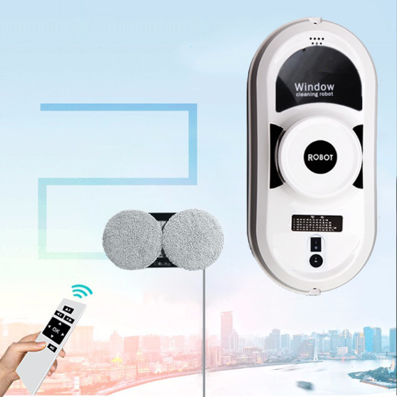 Remote Control Magnetic Window Cleaner Robot For Inside And Outdoor High Tall Window Wall Intelligent Cleaning Washing Glass
