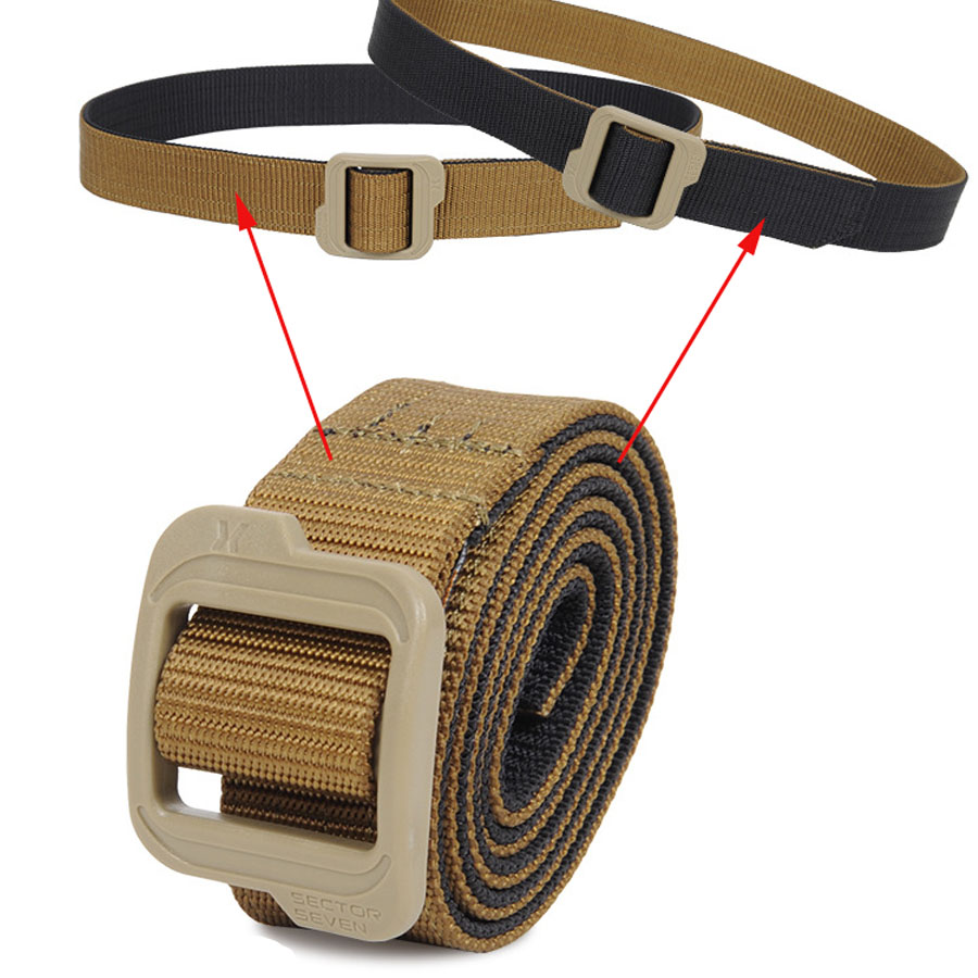 Double Side   Belt   Tactical Mens Nylon   Belt   Knitted Military Tactical Inner Army Style   Belt   Smooth Buckle 3.8 Cm