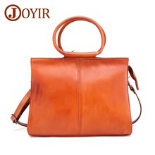 JOYIR Genuine Leather Handbags Vintage Women Bag Casual Female Bags Trunk Tote Ladies Shoulder Bag Large Messenger bag Bolsos цена в Москве и Питере