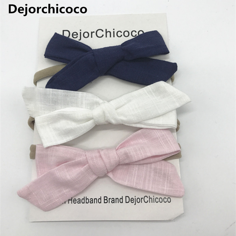 Newborn Baby Nylon Headbands Baby Girls Bow Hair Bands Head Bands Elastic Soft Girls Hairbands For Toddler Hair Accessories цены онлайн