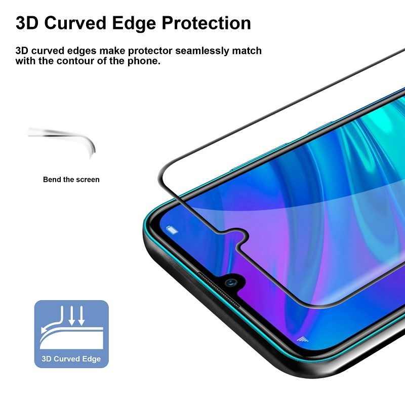 زجاج مقسى 2 في 1 9H لهاتف هواوي P Smart 2019 glas واقي للشاشة زجاجي hwawei hawei P Smart Plus 2019 Rlus2019