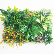Artificial Plant Wall Panels for Garden Home Decor Grass Turf Rug Lawn Outdoor Flower Wall Hotel Coffee Shop Balcony Layout цена и фото
