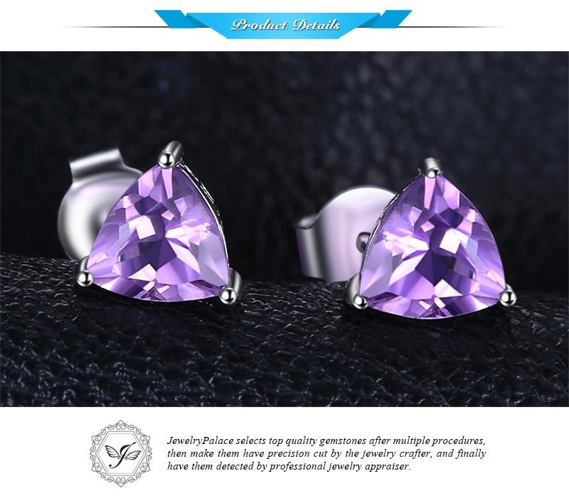 HTB1RpHKJ3mTBuNjy1Xbq6yMrVXar Genuine Amethyst Garnet Peridot Topaz Stud Earrings 925 Sterling Silver Earrings For Women Korean Earings Fashion Jewelry 2019