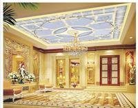 Free Shopping 2015 New Non Woven Romantic Fashion Pattern Spelling A Flower Zenith Ceiling Murals Wallpaper
