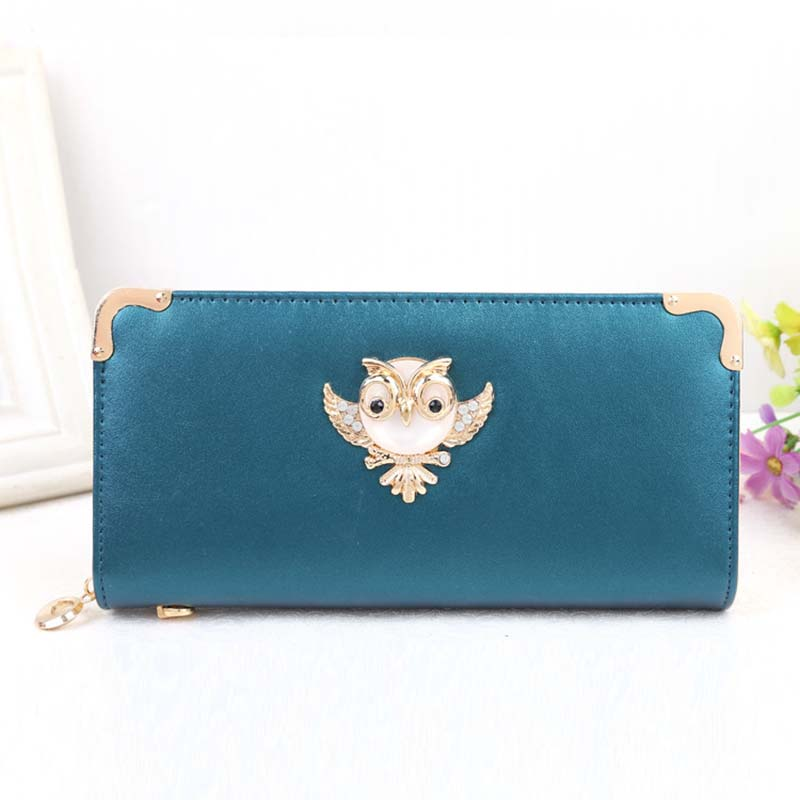 Women's Purse Long Clutch Coin Zipper Wallet Ladies  Card Holder Carteras Fashion Luxury Brand Animal Owl wallet For iPhone Bags simline fashion genuine leather real cowhide women lady short slim wallet wallets purse card holder zipper coin pocket ladies