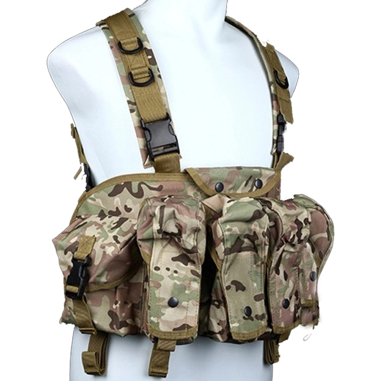 Tactical Airsoft Ammo Chest Rig Vest AK Rifle Mag Ammo Carrier Combat Tactical Military Vest