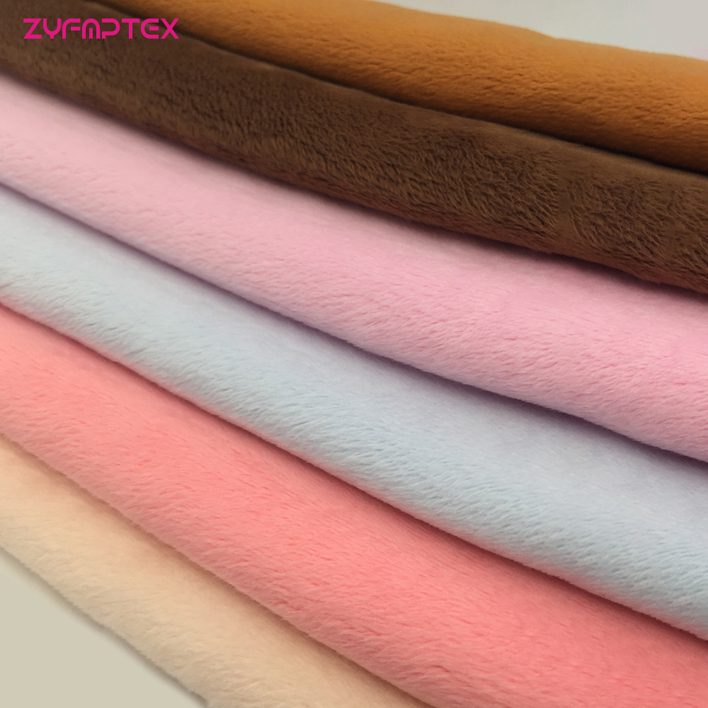 ZYFMPTEX 198 Colors 150x80cm 3mm Pile Length Super Soft Plush Fabric Patchwork Textile DIY Sewing Fabric For Toys Clothes