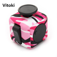 Vitoki Fidget Cube Anti Stress Toy to Adults Squeeze Fun to Children Holiday Gifts Magma Purple Night Navy Blue Desk Spin Toys