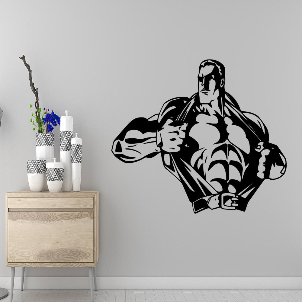 Съемный крепкий человек настенные наклейки на стену ПВХ материал для детской комнаты украшение дома аксессуары|Наклейки на стену|   | АлиЭкспресс