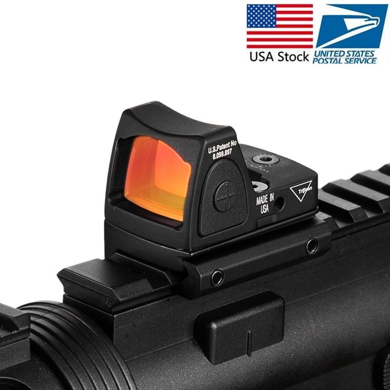 Trijicon Mini RMR Red Dot Sight Collimator Glock /Handgun Reflex Sight Scope fit 20mm Weaver Rail For Airsoft / Hunting Rifle цена