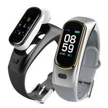 цены на smart bracelet with heart rate monitor talk band talkband wireless Bluetooth call headset for Huawei Samsung iSO phone PK b5  в интернет-магазинах