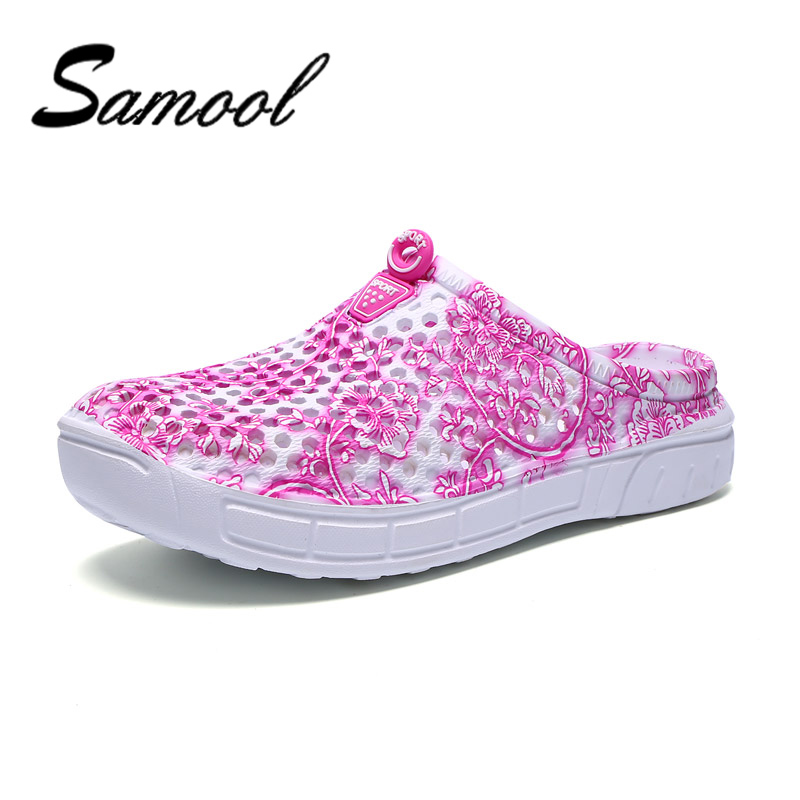 Summer Women's Sandals Leisure Bird's Nest Hole Shoes Hollowing Out Beach Breathable Shoes with Blue And White China Patten DX5 boys girls antislip usb sandals summer cut out comfortable flats beach sandals kids children breathable led shoes with light
