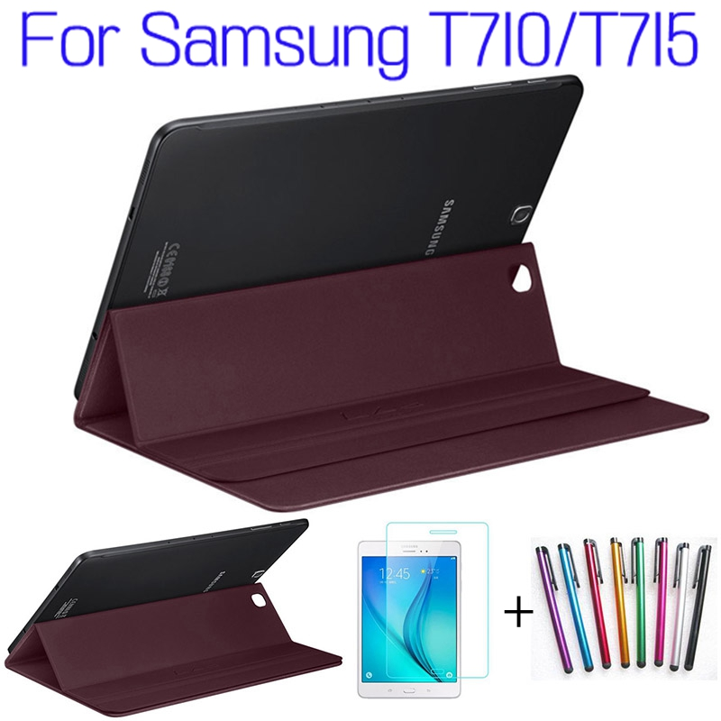 Hot Sale!!! Top Quality Smart PU Leather Cover for Samsung Galaxy Tab S2 8.0 T710 T715 Tablet Case+Free Screen Protector+Pen 3 in 1 high quality business smart pu leather book cover case for samsung galaxy tab s2 t710 t715 8 0 stylus screen film