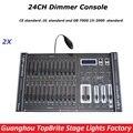 2 Шт. Диммер Консоли 24 Каналов DMX 512 Контроллер, Высокое Качество Света Этапа Контроллер DMX Дискотека/Профессиональный оборудования