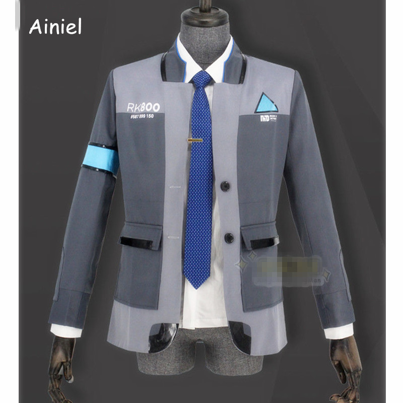 Ainiel Game Detroit Become Human Connor RK800 Cosplay Costume Men Agent Suit Uniform Coat and shirt