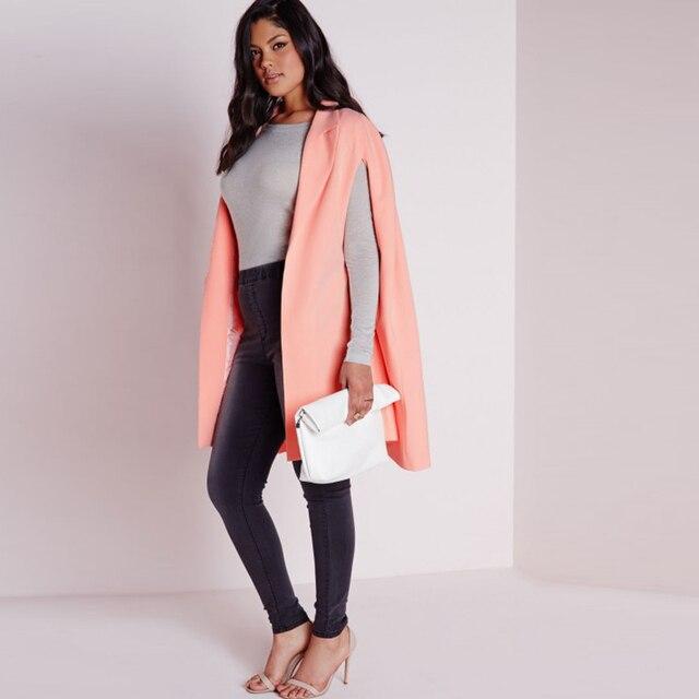 9cd572116d Plus Size Women Blazers and Jackets Long Coat Office Cape Blazer Feminino  Autumn Lapel Suit Veste