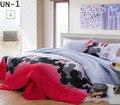 100% Sábanas de CAMA de Impresión reactiva del Lecho duvet cover set bedline tamaño doble para los niños