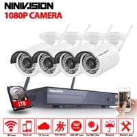 NINIVISION 2 0MP FULL HD Wifi CCTV Camera System Kit 4CH Wireless NVR Kit 1080P Wifi